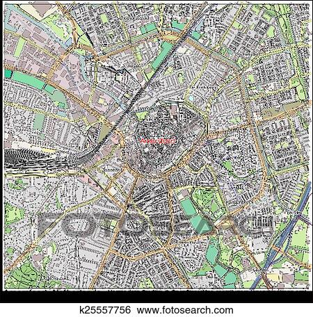 Clip Art of Amersfoort Netherlands city map k25557756 Search