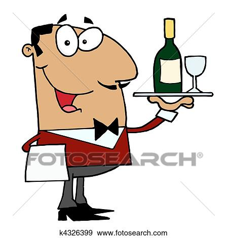 clip art of hispanic male waiter k4326399 search clipart rh fotosearch com water clip art free water clip art free