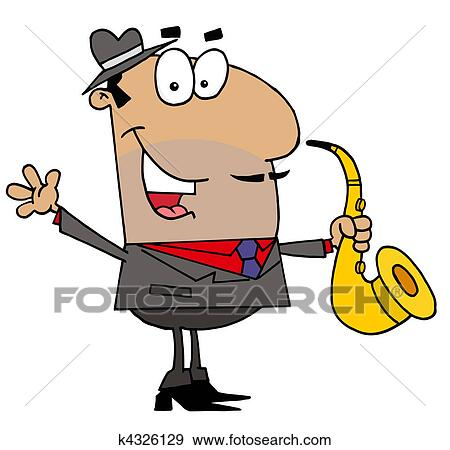 clip art of hispanic saxophone player man k4326129 search clipart rh fotosearch com hispanic food clipart hispanic clipart free