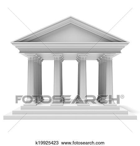 手绘图 - 银行, 建筑物
