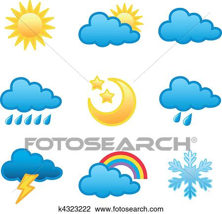 Weather Forecast Drawings Weather Forecast Icon in
