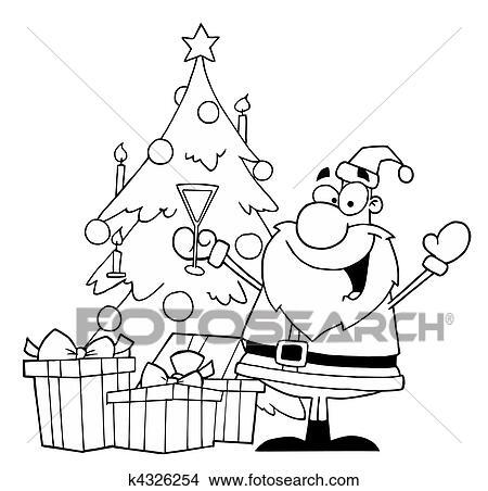 clipart lustig weihnachten weihnachtsm nner k4326254. Black Bedroom Furniture Sets. Home Design Ideas
