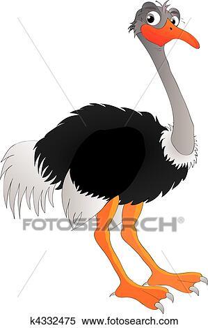 Clipart autruche k4332475 recherchez des clip arts des illustrations des dessins et des - Autruche dessin ...