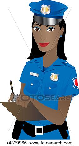Clip Art of Police Woman k4339966 - Search Clipart ...Police Woman Clipart