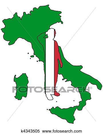 意大利语, 敬礼 失量图库图片