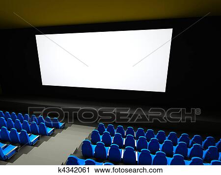 clipart of movie theater seats 3d rendered im k4342061