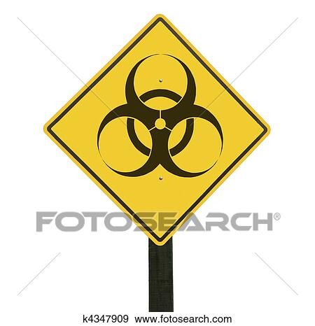 banque de photographies jaune panneau de signalisation biohazard symbole k4347909. Black Bedroom Furniture Sets. Home Design Ideas