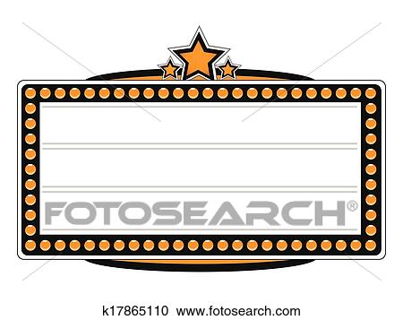 clipart of blank cinema billboard vector design k17865110 search rh fotosearch com movie marquee clipart free movie theater marquee clipart free