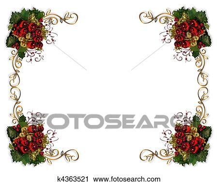 Clipart weihnachtsborte elegante k4363521 suche clip for Elegante wandbilder