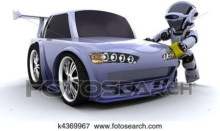 Banque d 39 illustrations robot lavage a voiture k4369967 recherche de cliparts au format - Coloriage car wash ...