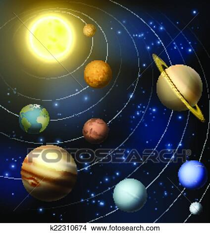Clipart of Solar System k22310674 - Search Clip Art ...