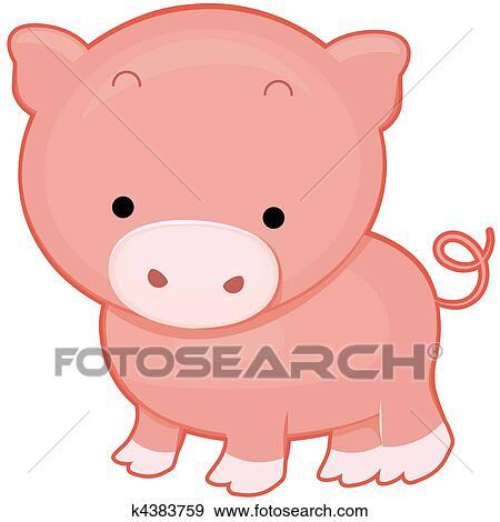Banque d 39 illustrations mignon cochon k4383759 - Dessin cochon mignon ...