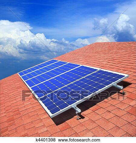 images panneaux solaires sur les toit k4401398 recherchez des photos des images des. Black Bedroom Furniture Sets. Home Design Ideas