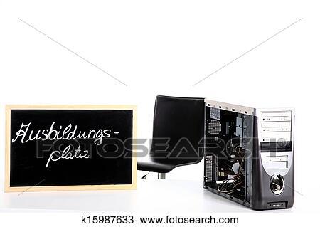 zeichnung pc arbeit gewollt in deutschland k15987633 suche clipart illustration. Black Bedroom Furniture Sets. Home Design Ideas