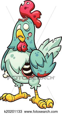剪贴画 - zombie, 小鸡