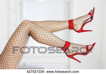Stock foto langer und sexy beine in elegante for Elegante wandbilder