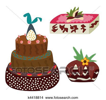可爱蛋糕画画图片