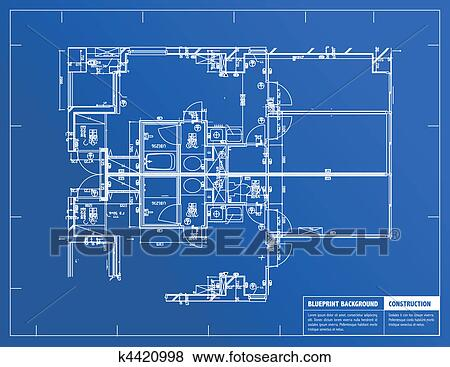 Clip art of blueprint k4420998 search clipart illustration clip art blueprint fotosearch search clipart illustration posters drawings and malvernweather Images