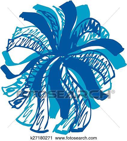 clipart of cheer pom pom k27180271 - search clip art, illustration