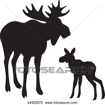 clipart of elk vector k4422972 search clip art illustration rh fotosearch com elk clip art pics elk clip art in black and white