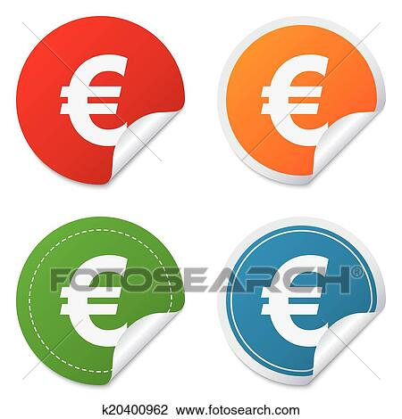 Clipart Of Euro Sign Icon Eur Currency Symbol K20400962 Search