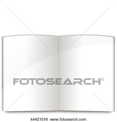 Clip Art of Blank book pages template k4421016 - Search Clipart ...