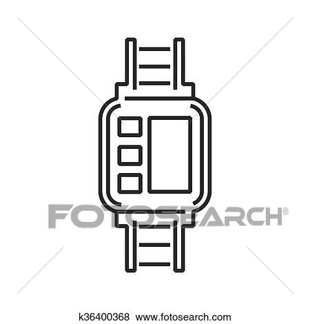 clip art of line icon medical device icon diabetes watch k36400368 rh fotosearch com  diabetes clipart pictures
