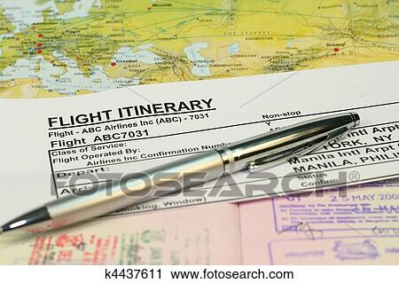 how to prepare flight itinerary