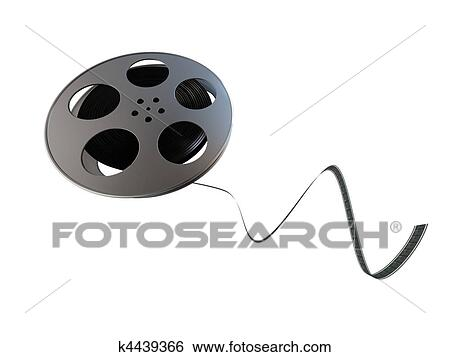 Stock illustration film reel fotosearch search clip art drawings