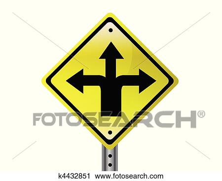 clipart of three way street sign k4432851 search clip art rh fotosearch com street background clipart street background clipart