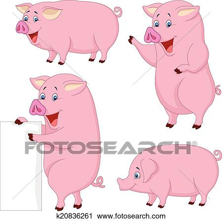 clipart dessin anim graisse cochon collection k20836261 recherchez des clip arts des. Black Bedroom Furniture Sets. Home Design Ideas