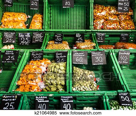 the grocery food market in norway