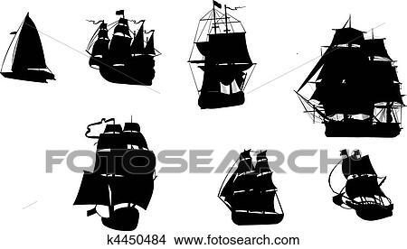 手绘图 - 船