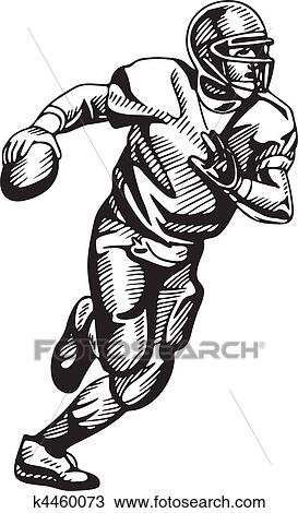 Black and white football player images