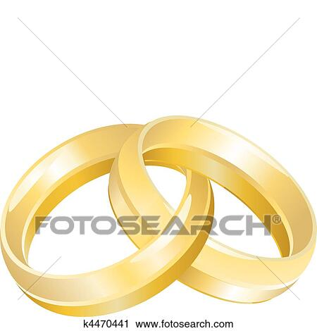 Clipart Of Wedding Bands Or Rings K4470441