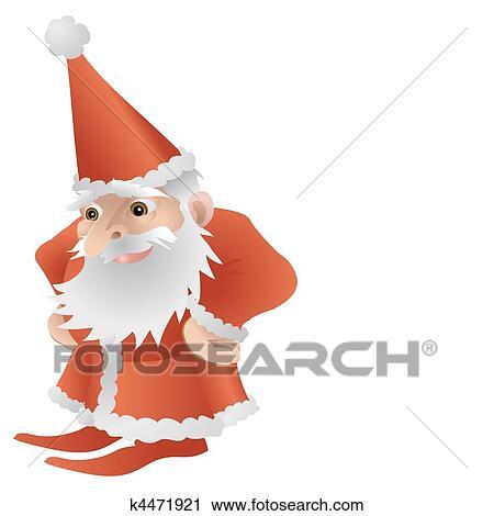 剪贴画 凉爽, 漂亮, 圣诞老人, 性格
