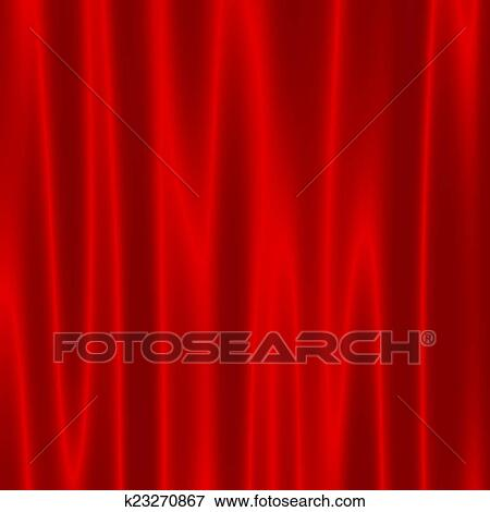 Stock Illustration Of Theatre Stage With Red Velvet Curtains