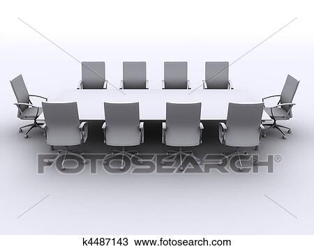 Dessin table conf rence k4487143 recherchez des for Table 3d dessin
