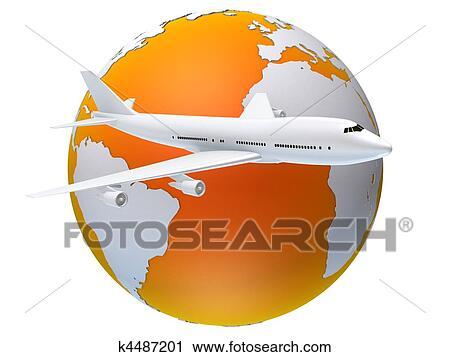 剪贴画 旅行, 全世界