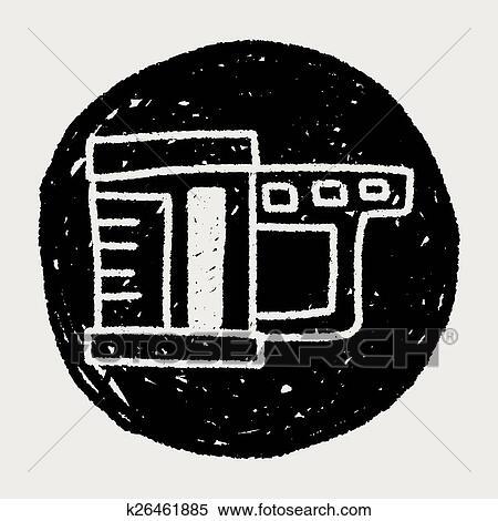 Messbecher clipart  Clipart - meßbecher, gekritzel, zeichnung k26461885 - Suche Clip ...
