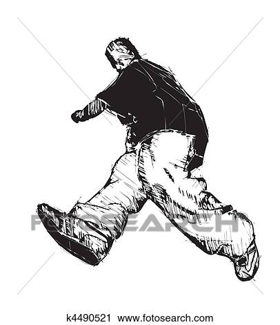 Clipart of break dance k4490521 - Search Clip Art, Illustration ...
