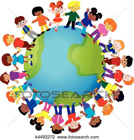 Clipart of Cultural Diversity k6960945 - Search Clip Art ...