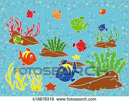 Aquatic Life Drawings