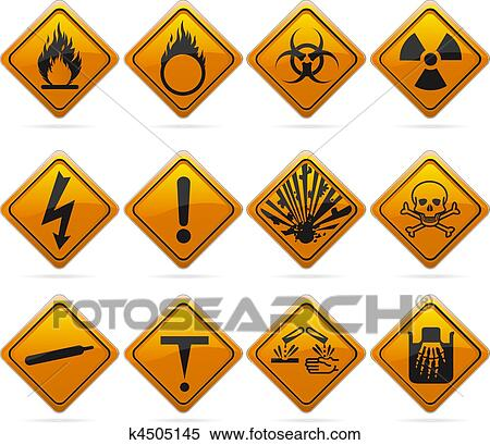 Clipart of Glossy Diamond Hazard Signs k4505145 - Search Clip Art ...