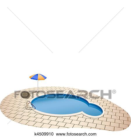 Clipart of swimming pool k4509910 search clip art for Swimming pool drawing