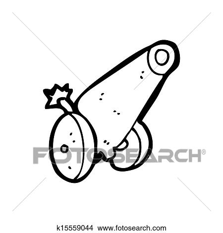 drawings of cartoon cannon k15559044 - search clip art illustrations
