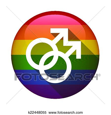 clipart of icon with a gay pride flag k22448055 search
