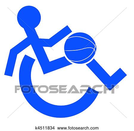 Drawings of logo or symbol for wheelchair sport k4511834 for Basketball en chaise roulante