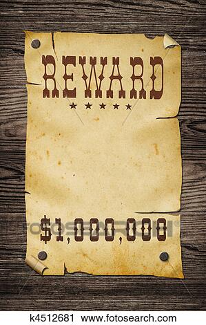 Blank Wanted Poster Paper Clipart of Old western...