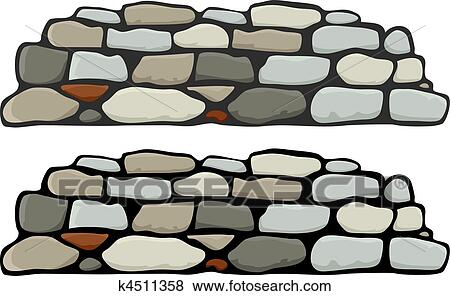 clip art of stone wall i k4511358 search clipart illustration rh fotosearch com stone wall texture clipart stone wall pattern clipart